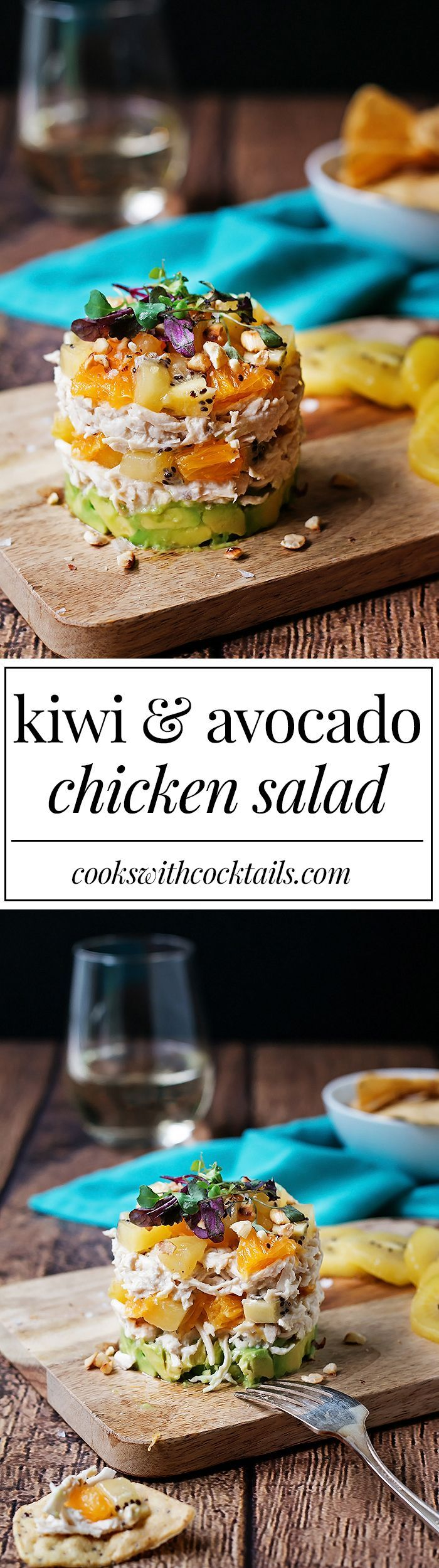 Kiwi and Avocado Chicken Salad.