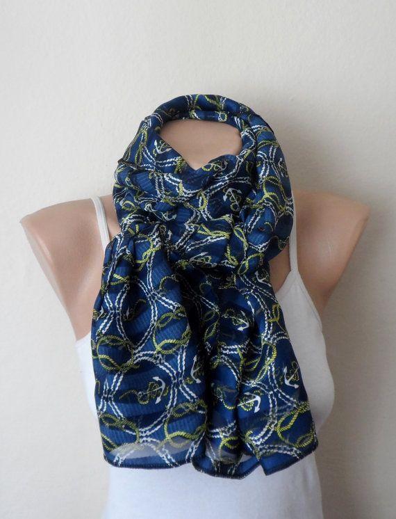 blue infinity scarf blue satin chiffon wrap pareo multicolor