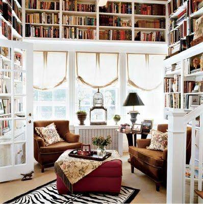reading space: Bookshelves, Dreams Libraries, Dreams Houses, Home Libraries, Window, Books Shelves, Interiors Design, Rooms, Nooks
