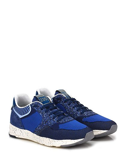 BRIMARTS - Sneakers - Uomo - Sneaker in camoscio e tessuto lavorato con inserti in pelle e suola in gomma. Tacco 40, platform 25 con battuta 15. - BLU - € 180.00