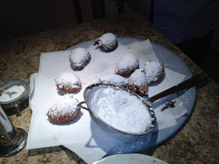 Calas recipe (rice/egg fritters) from New Orleans via The Splendid Table (adapt with gluten free flour - should be easy :-)