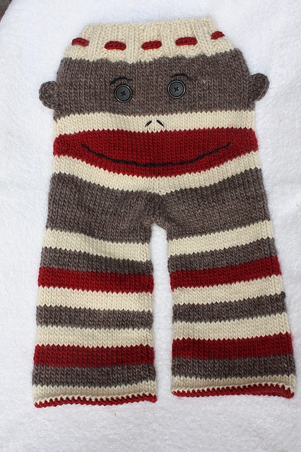 Knitting Pattern For Sock Monkey Pants : Ravelry: PiccoloBlues Sock Monkey Longies. Too cute! Knit Clothing For...