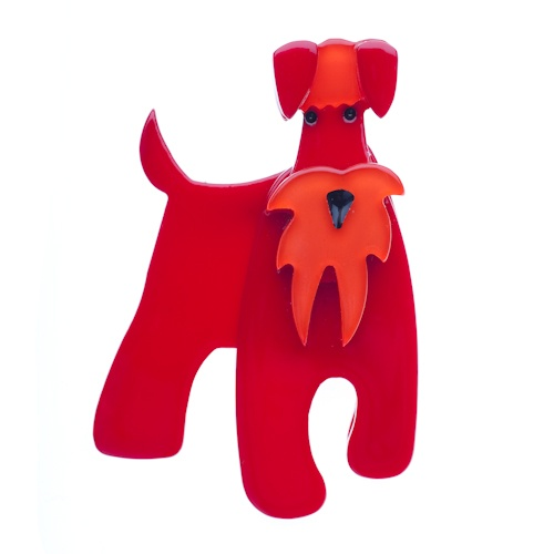 The Schnauzer and Klaus brooch