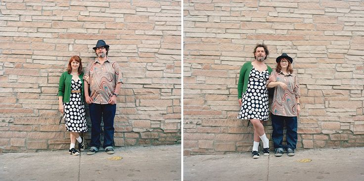 Switcheroo: Quirky Portraits of Couples Swapping Clothes by Hana Pesut