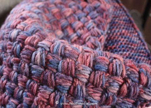 Highland – Tuto snood tricoté avec le gros point de vannerie | Tricot et crochet
