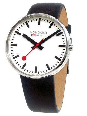 Mondaine Wristwatch : Based on Zurich's main train station clock : Click thru for purchase details : Best Watches for Men - Esquire : 38mm