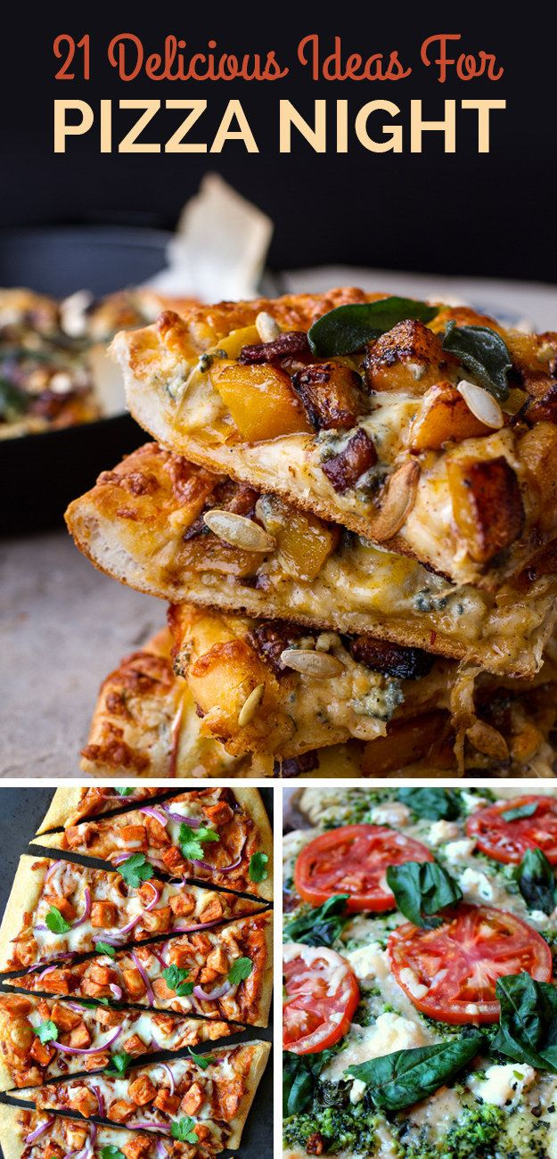 21 Delicious Ideas For Pizza Night - this pumpkin one looks delicious!!
