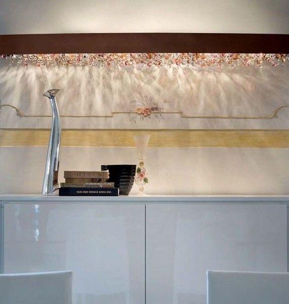 Seinavalgusti Ola´, Effektsete Itaalia klaasist ripatsitega seinavalgusti.  Disain seinavalgustid, Disainvalgustid, Kodu seinavalgustid, Koduvalgustid. Bränd:   Masiero