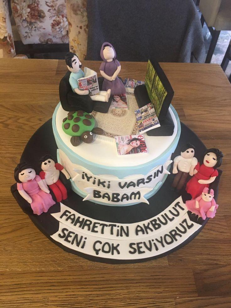Babalar günü kutlamaları ya da babalarınızın doğum günü kutlamaları için harika bir tasarım pasta. #tasarimpasta #butikpasta #babalargunu