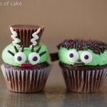 Mr. and Mrs. Frankenstein Mini Cupcakes