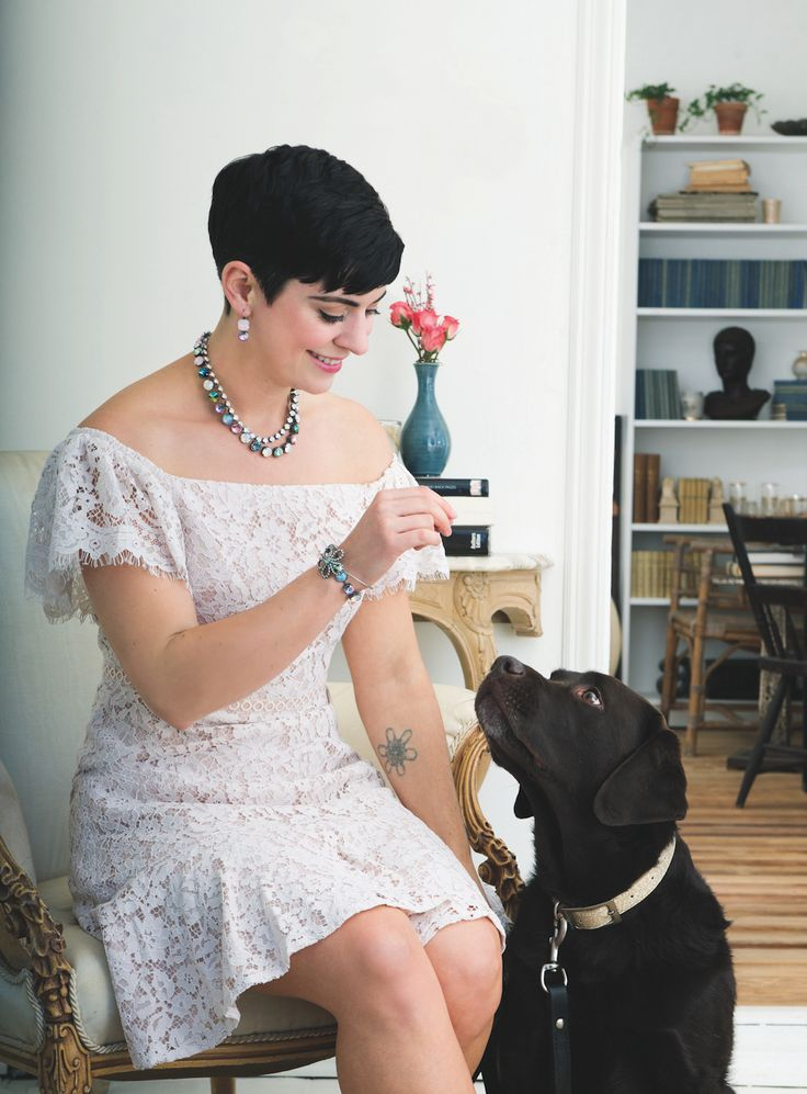 Posing With My Dog in The Sabika Spring Look Book