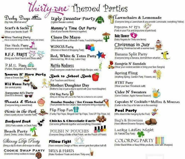 Thirty-One party themes www.mythirtyone.com/ErinCosme