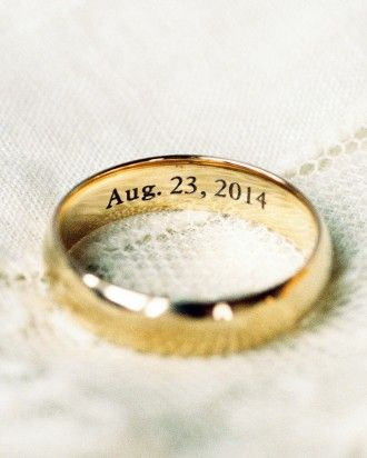 whitney and matts perfectly imperfect wedding in colorado the rings - Wedding Ring Engraving Ideas