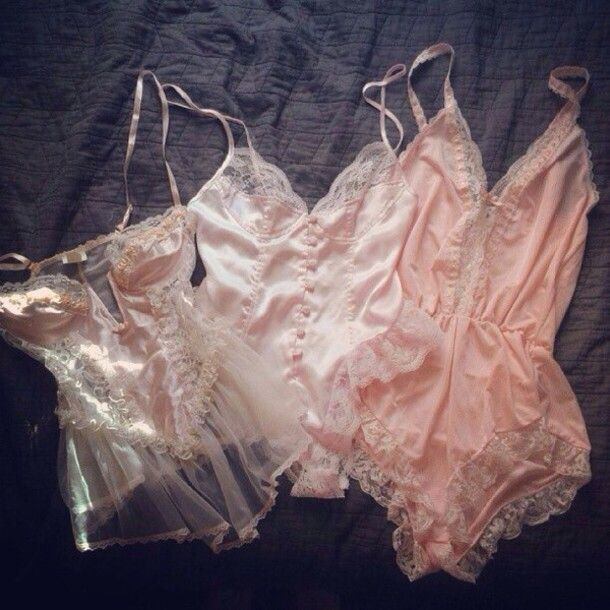 underwear sexy pink lingerie lace ruffle frilly lingerie lingerie set cute…