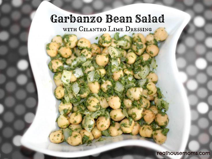 Garbanzo Bean Salad with Cilantro Lime Dressing