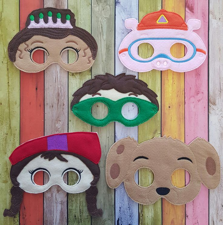 Super Why Inspired Felt Masks * Birthday Parties, Party Favors, Playtime by TreasuredForever on Etsy https://www.etsy.com/listing/290824183/super-why-inspired-felt-masks-birthday