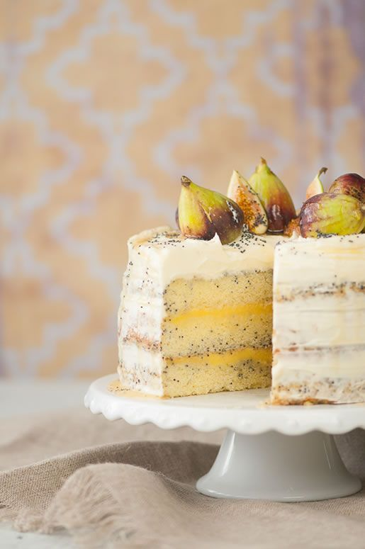 Honey Lemon Poppy Seed Cake