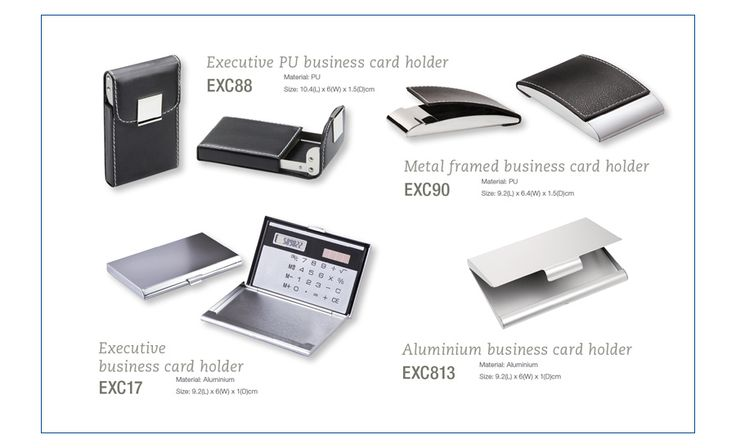 Executive gifting - business card holders! Love the metal ones-they always look so classy & with your logo engraved!