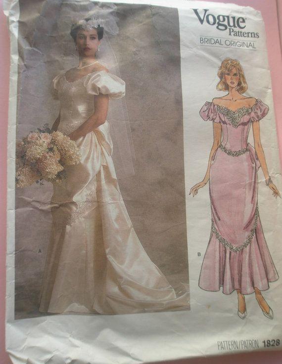 1980s Vogue Bridal dress gown wedding gown by GirlyStuffByDeJaVu