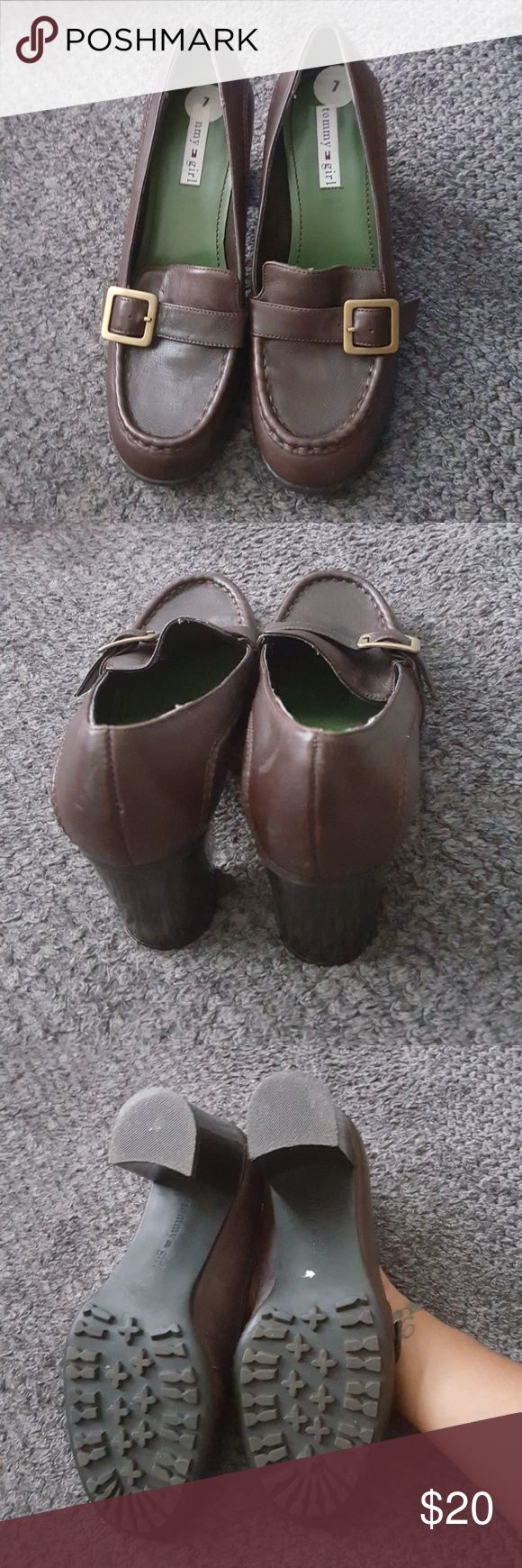 "Tommy Girl Loafer & Pumps Shoes Size 7  3"" heels Dark Brown Color Tommy Girl Shoes Flats & Loafers"