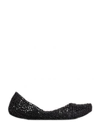 Boutique La Femme - www.lafemmecorreggio.com Ballerina con glitter in men-flex (pvc) profumato. Soletta interna in tinta.  Articolo:31512 Melissa papel VII black glitter