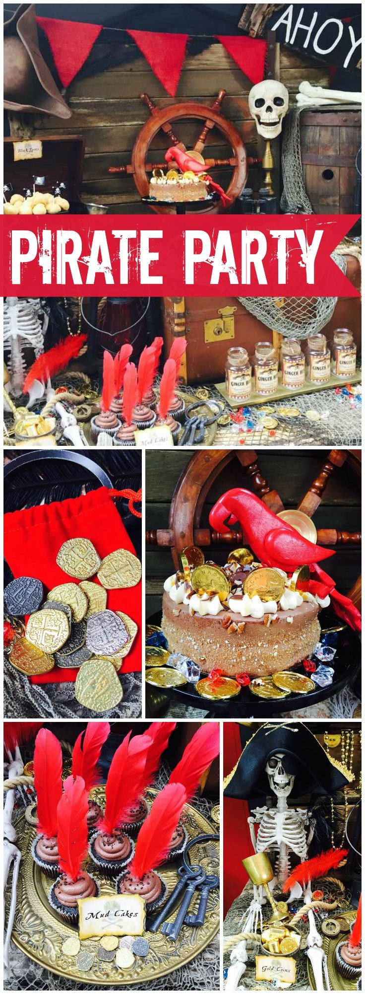 What a fantastic pirate party with amazing decorations! See more party ideas at CatchMyParty.com!