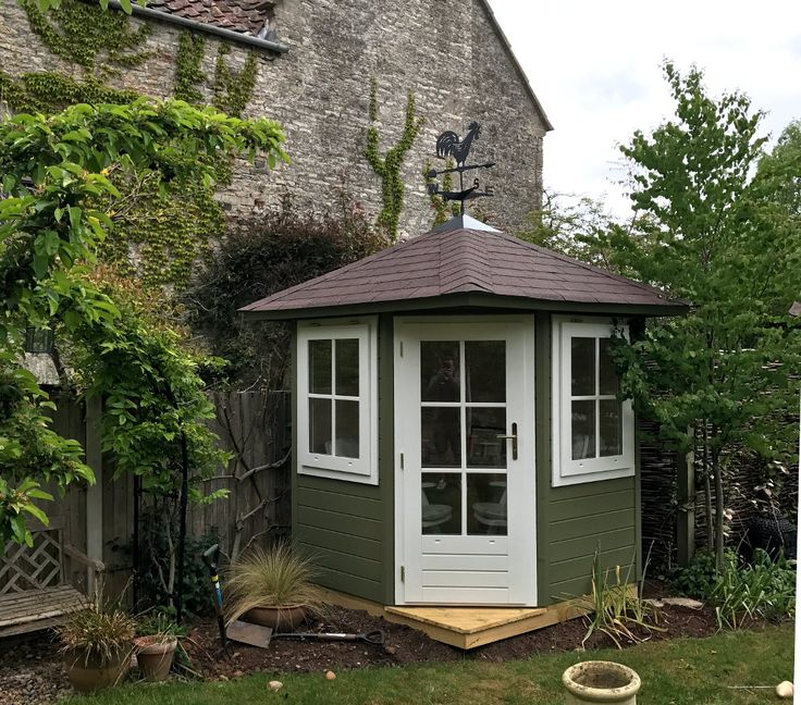a corner garden shed or small summerhouse available painted the perfect posh garden shed