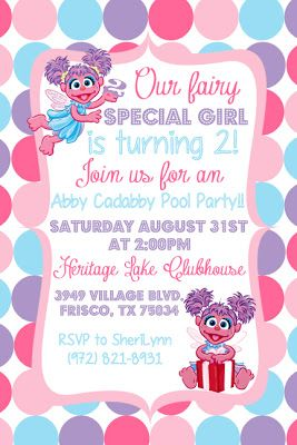 Writing Our Story: An Abby Cadabby Birthday Party