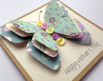 Friend Birthday Card 3D Butterfly Card Sister by LottieandLois