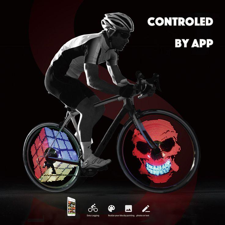 192 unids RGB Led Ciclo de La Bicicleta de Luz Inteligente 2016 Nuevo 1 Unidades Colorido Ruedas de Radios de Luz Programable DIY Luz de La Lámpara patrón en Luz de la bicicleta de Deportes y Entretenimiento en AliExpress.com | Alibaba Group