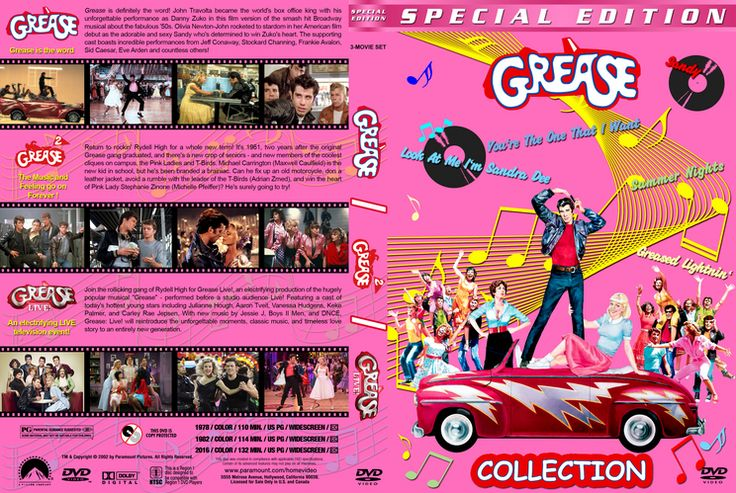 Grease Triple Feature Custom DVD Cover