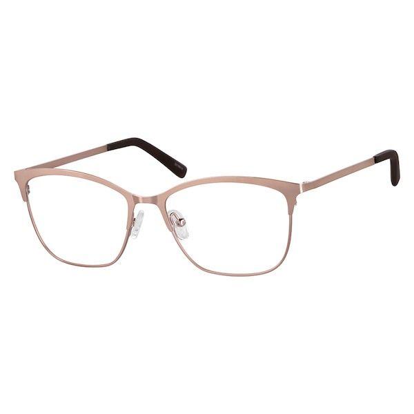 e34a9c9673 Zenni Womens Square Prescription Eyeglasses Rose Gold Stainless Steel  3216819 in 2019