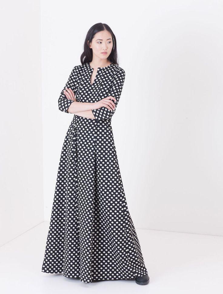 Maxi Corolla Dress jacquard grafico
