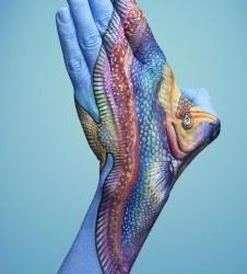 Fish - not a tattoo; body art