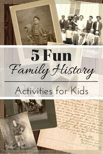 Genealogy and family history is an easy, fun, family bonding activity. Kids will love these 5 fun family history activities.