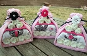 Love these - nappy cakes!