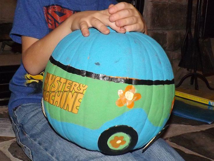 Scooby Doo Mystery Machine pumpkin. So proud he wouldn't ...