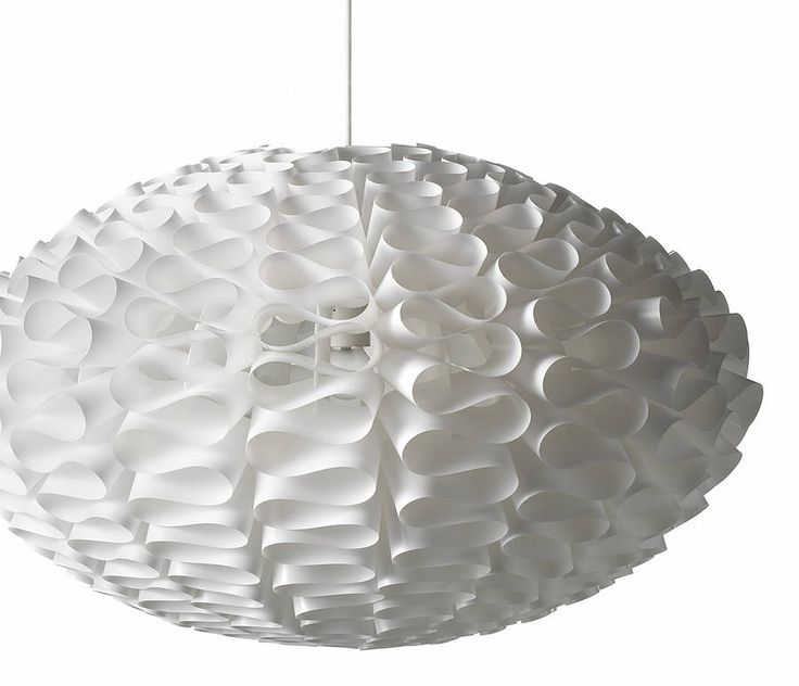 Transform your room with Norm 03, a sculptural foil lampshade with a striking, organic form.Small £106; Large £148Reminiscent of the 60s, Norm 03 looks fantastic both lit and unlit. When the light is on, it gives a beautiful, sculptural effect on your wall. Supplied flat packed in 39 pieces for self-assembly (no tools or glue required). The material is high quality fine lampshade foil, which gives a beautiful luminosity. We recommend the use of normal bulbs (not more than 60W) or ...