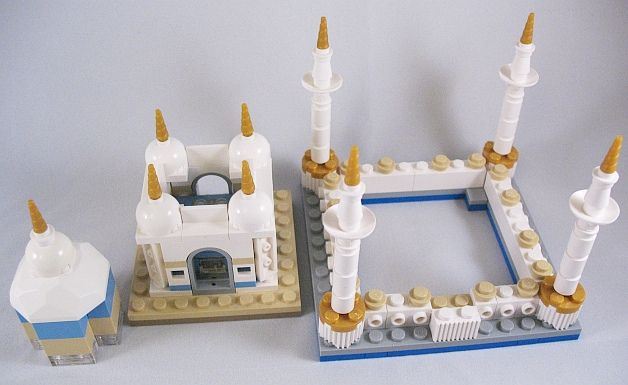 instructions for LEGO Mini Taj Mahal Modular by akunthita via flickr