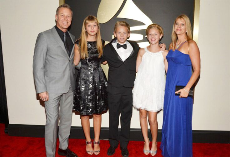 James Hetfield and his family at the Grammy Awards, 2014.