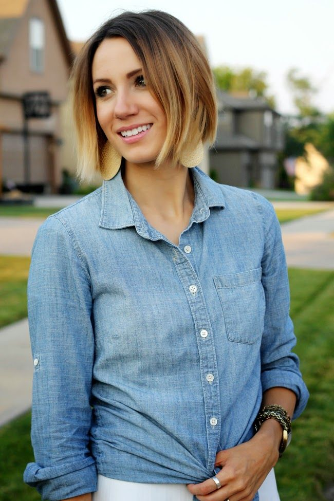 beautiful chin length hair, short ombre hair