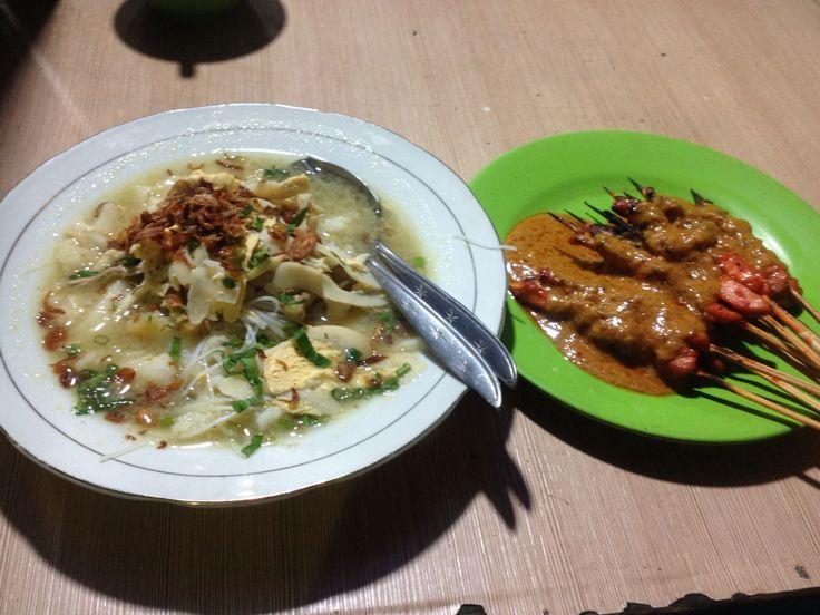 Soto Banjar and Satay from Banjarmasin Indonesia