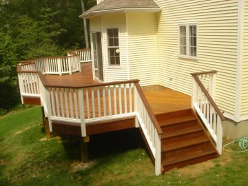 wrap around deck, like the white and brown combo instead of all the same color