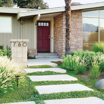 Drought-tolerant front yard makeover in San Diego - Landscaping ...