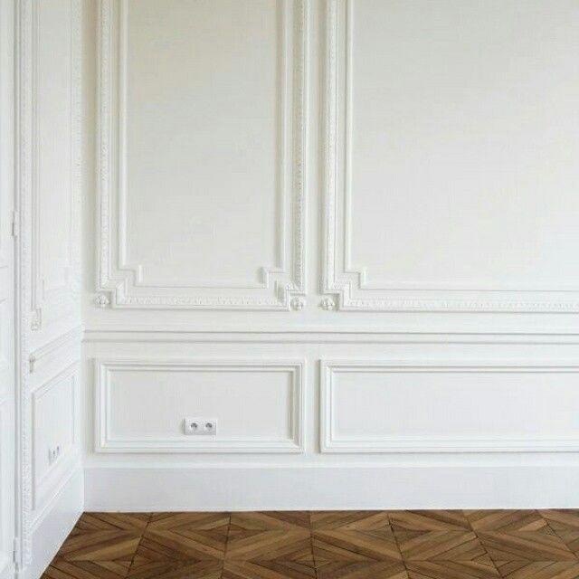 M s de 25 ideas incre bles sobre molduras para techos en - Moldura madera pared ...