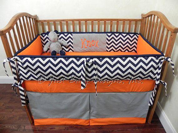Custom Baby Bedding Set Knox Boy Crib Bedding Navy