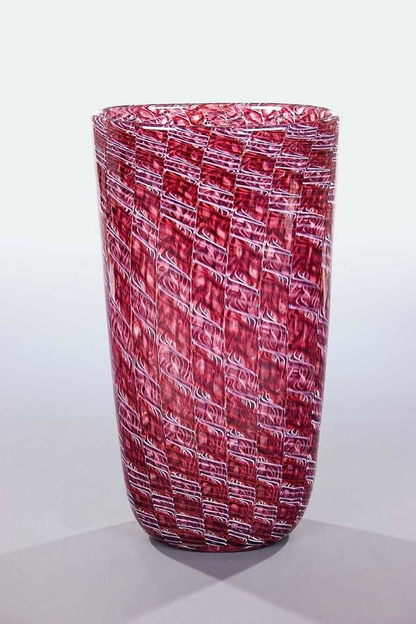 Vase 'Merletto' Archimede Seguso glass Murano.