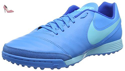 NIKE Tiempox Genio Ii Leather Turf Fußballschuhe, Chaussures de Football Homme, Bleu (Blaues Glühen/Polarisirtes Blau/Soar Blau), 42 EU - Chaussures nike (*Partner-Link)