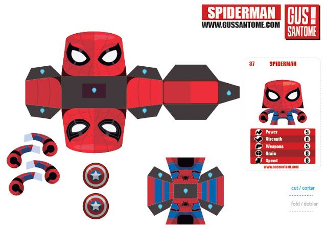 Mini Papercraft: Spiderman Civil War