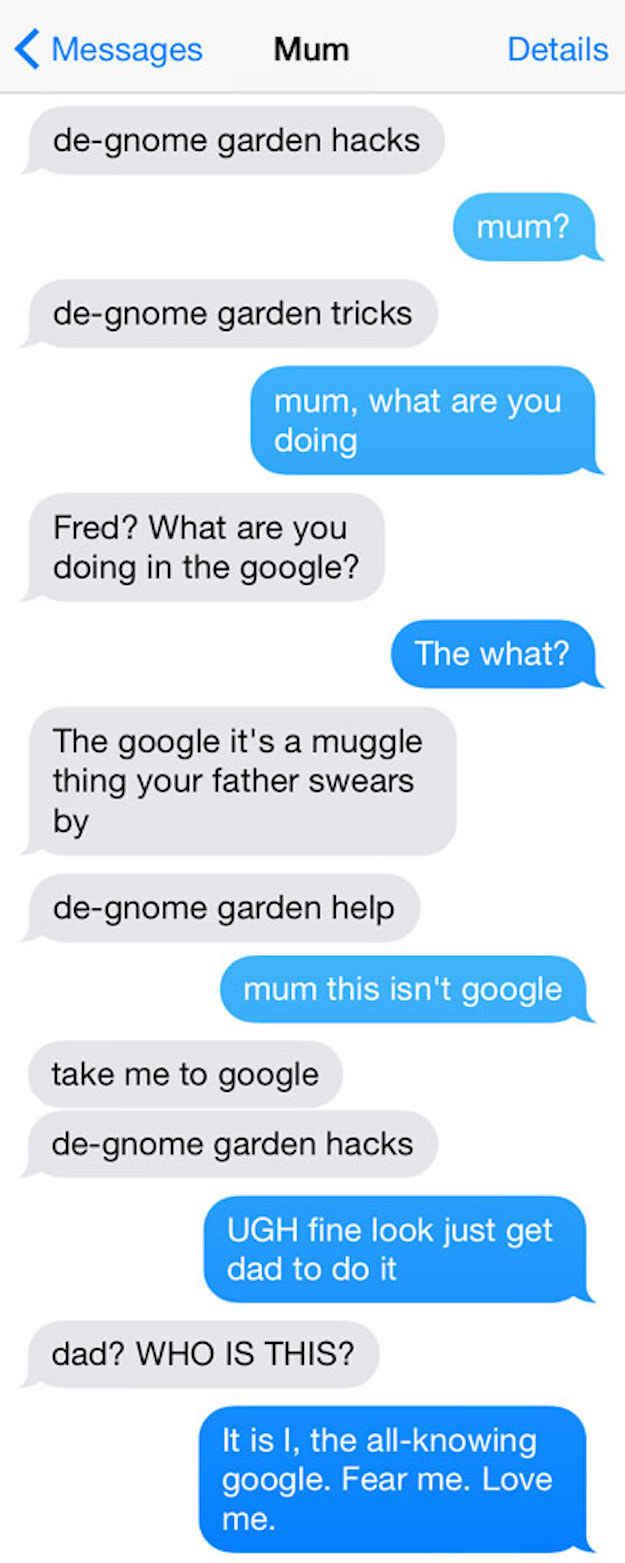 If Harry Potter had texting